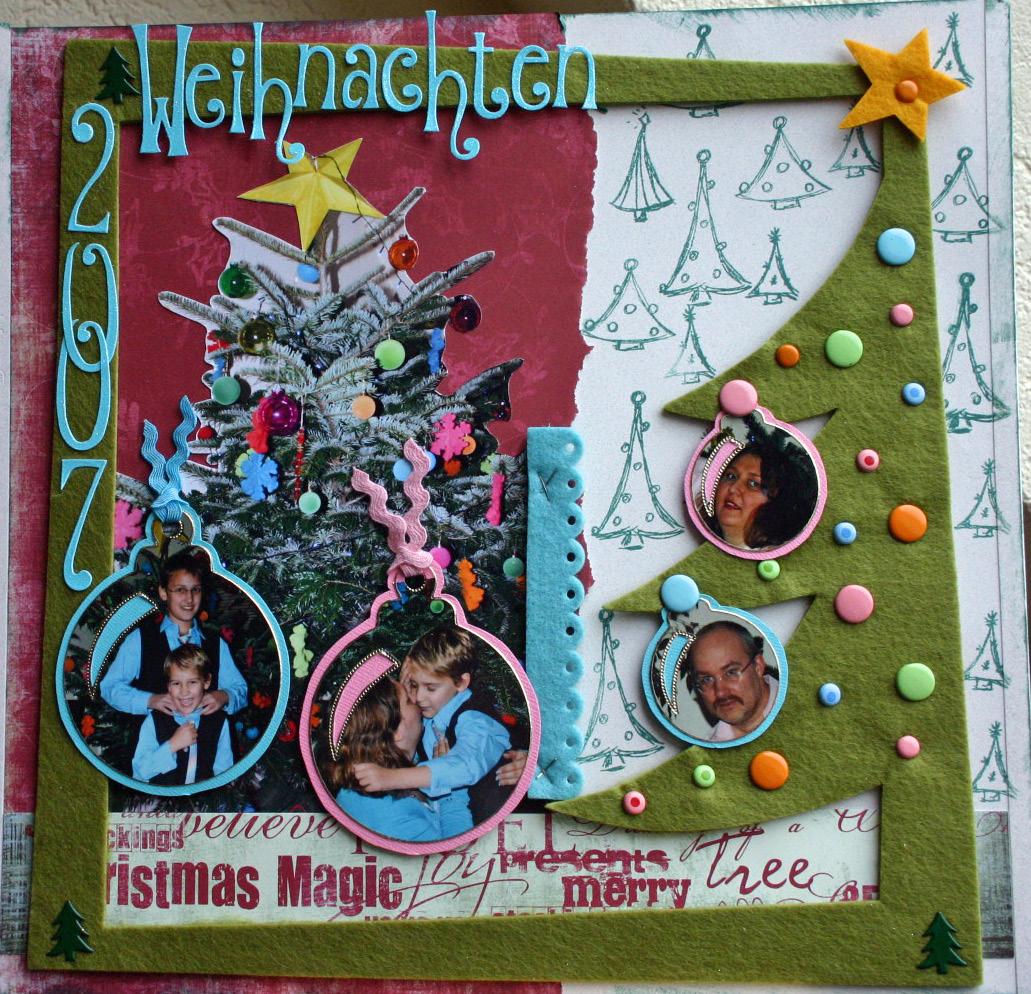 Layout Weihnachten 2007 – Delias Paperworld