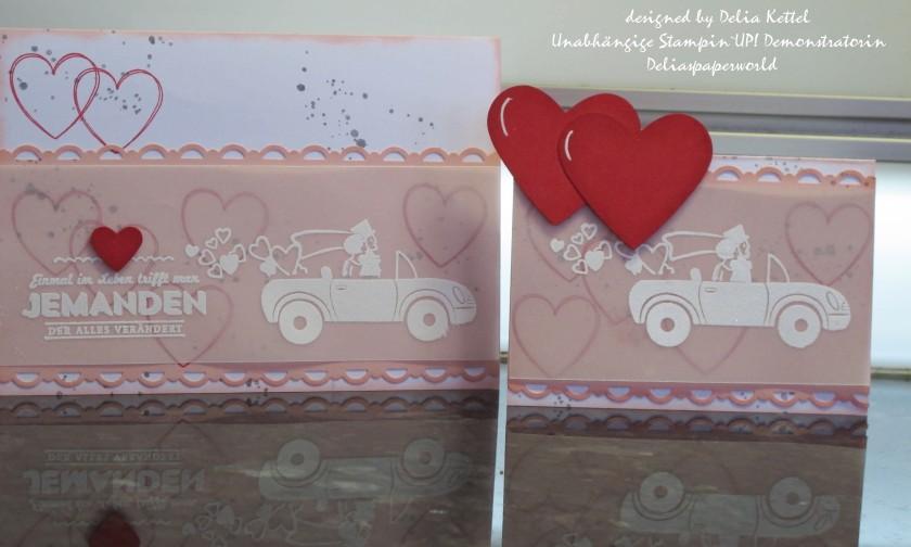 Tischkarte und Karte Hochzeit