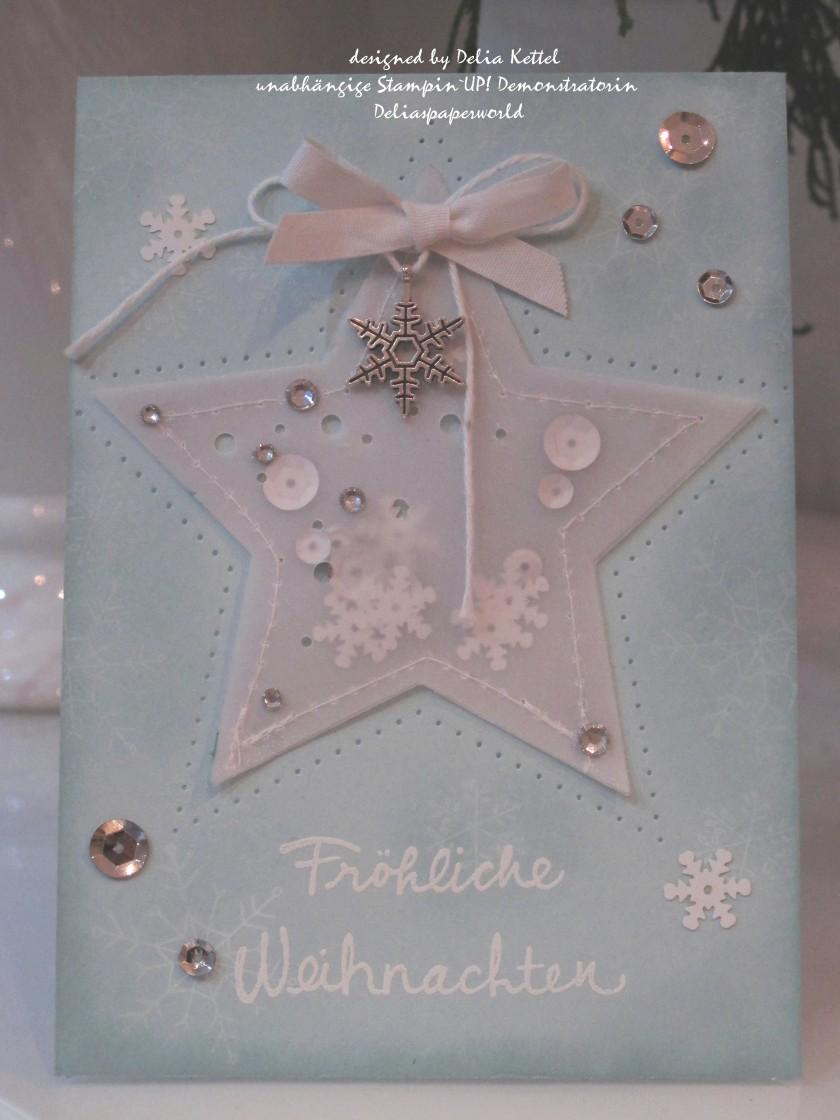 Vellum-Stern Weihnachtskarte 1