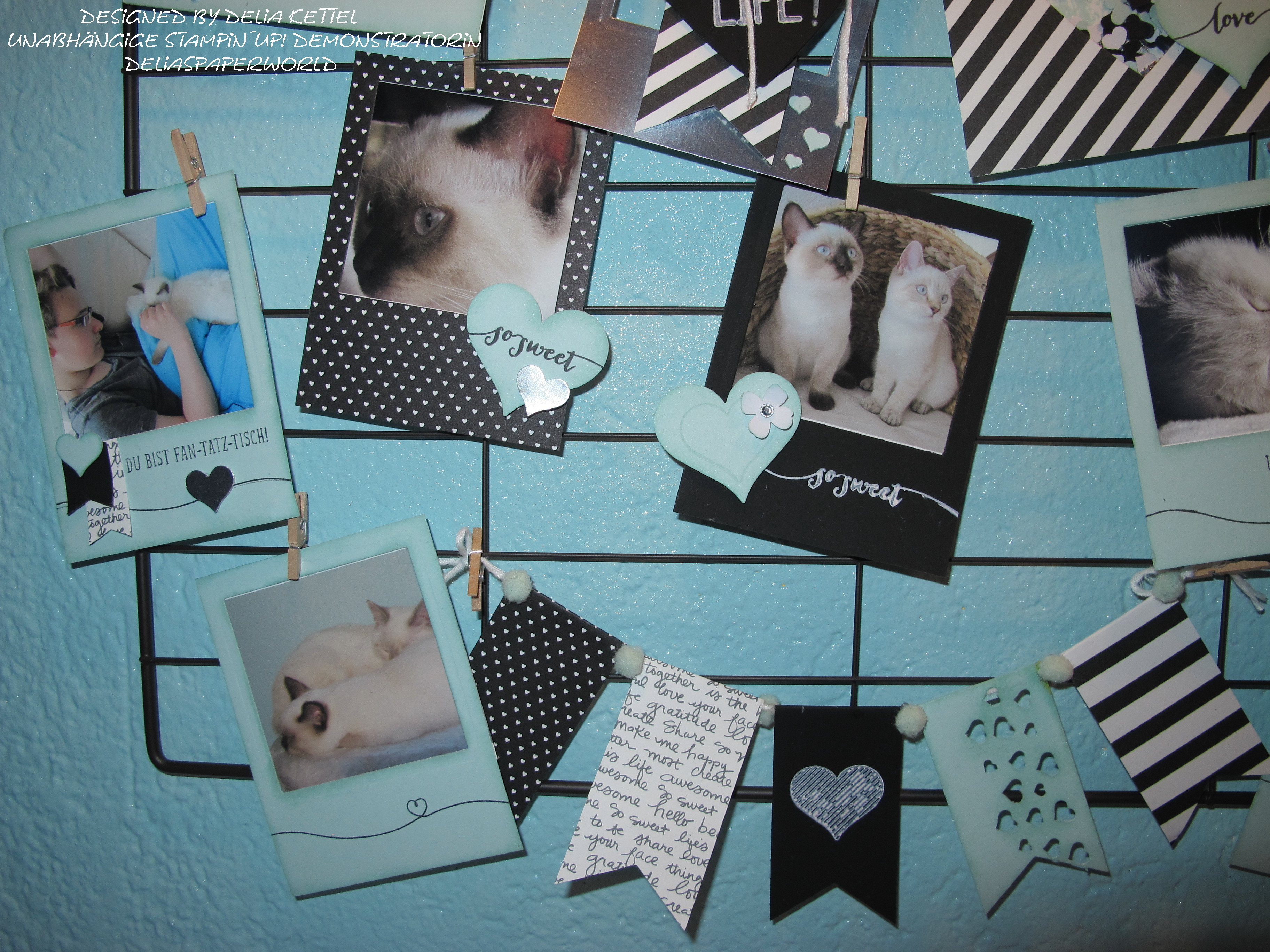 """Fotorahmen """"Das Leben lacht"""" mit Stampin`UP! – Delias Paperworld"""