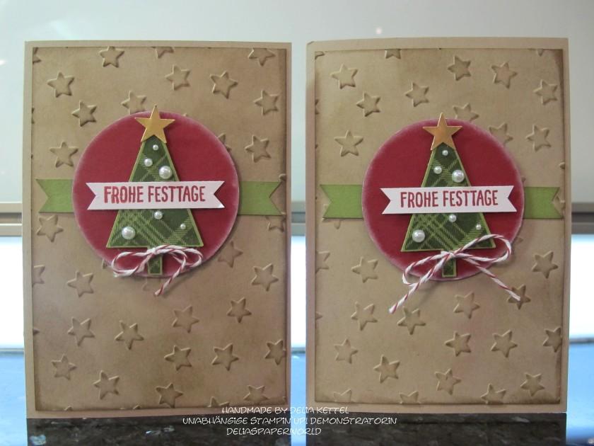 rustikale weihnachtskarte mit stampin up delias paperworld. Black Bedroom Furniture Sets. Home Design Ideas