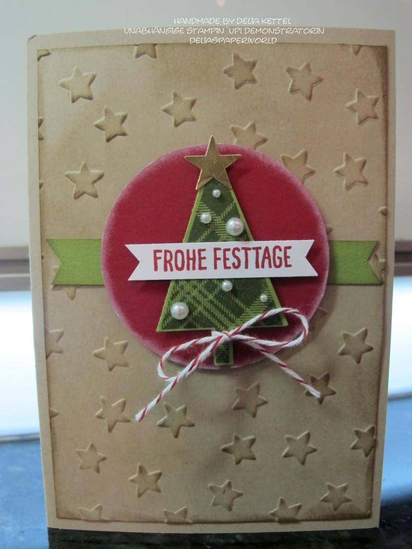Weihnachtskarte Baum