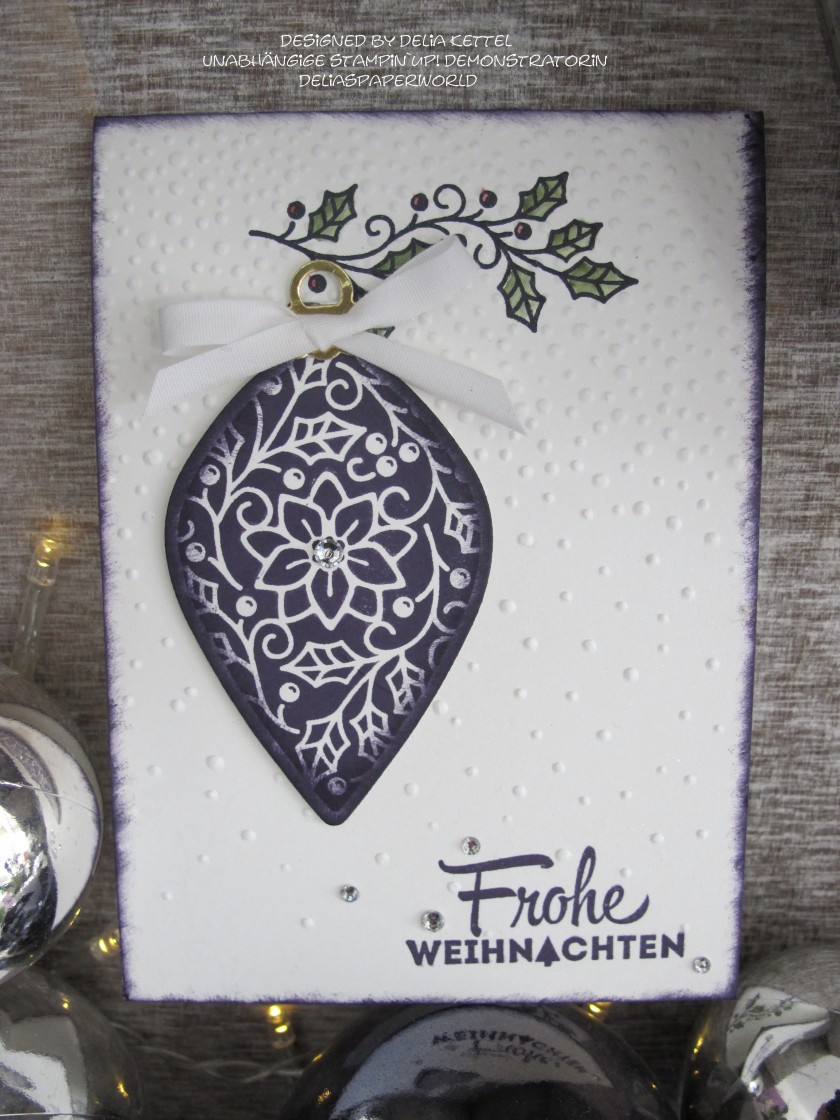 Weihnachtskarte Kugeld 1 Delia Kettel